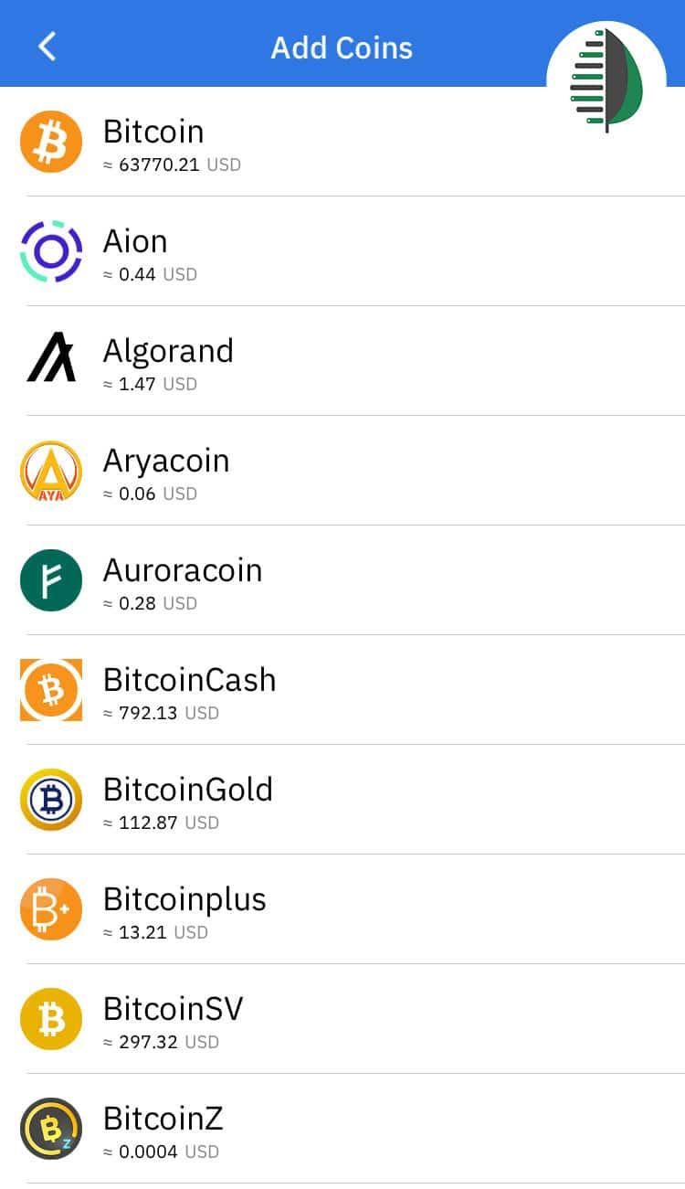 ساخت حساب کاربری در کیف پول Coinomi